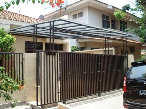 Contoh Model Kanopi  Rumah Minimalis Modern  Desain Rumah
