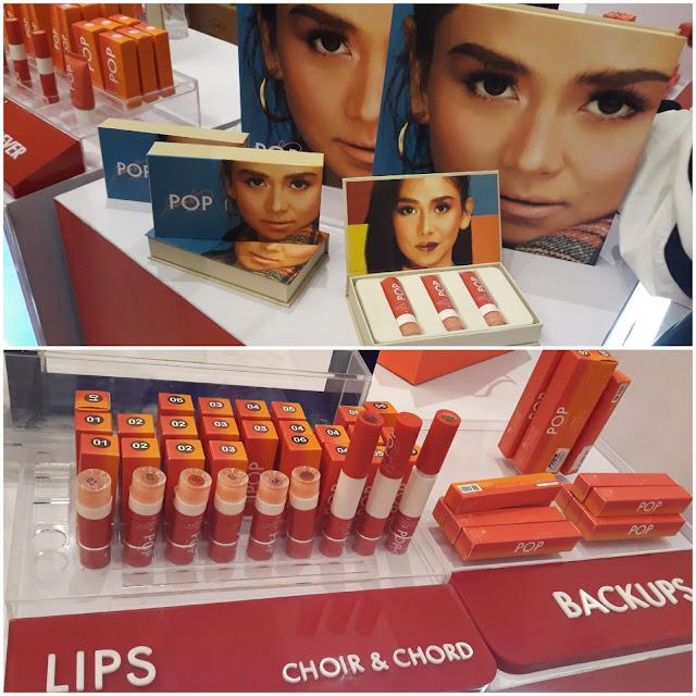 Sarah G.'s Pop Studio PH faves: Eyebrow pencil, eyeliner, contour, hits number 5 lipstick.