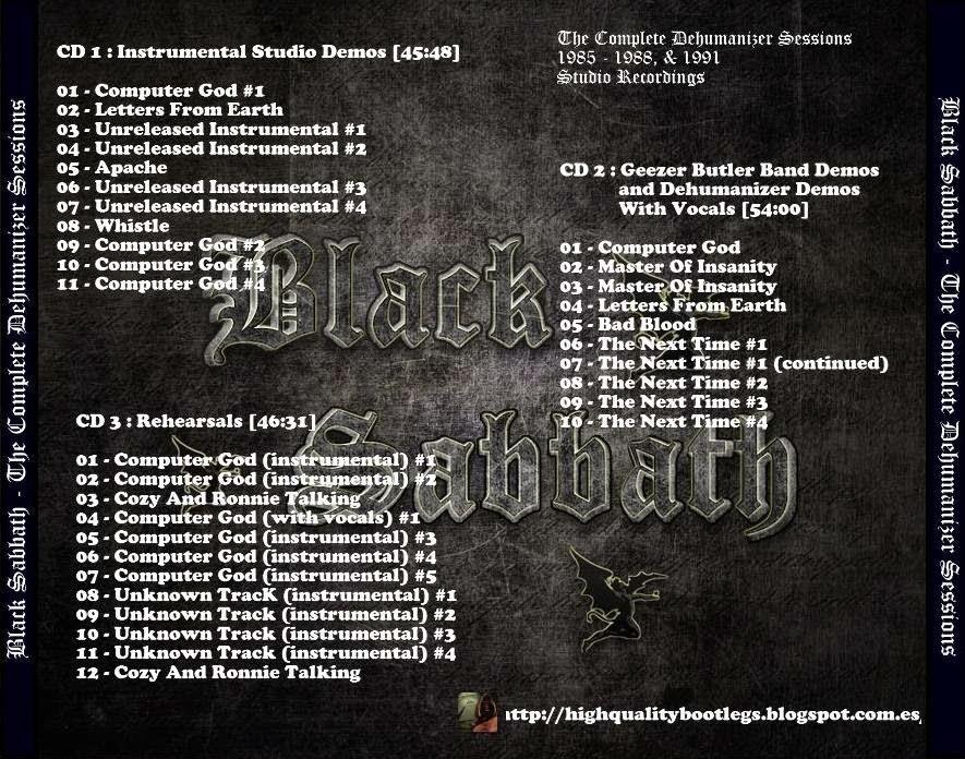 RELIQUARY: Black Sabbath - The Complete Dehumanizer Sessions
