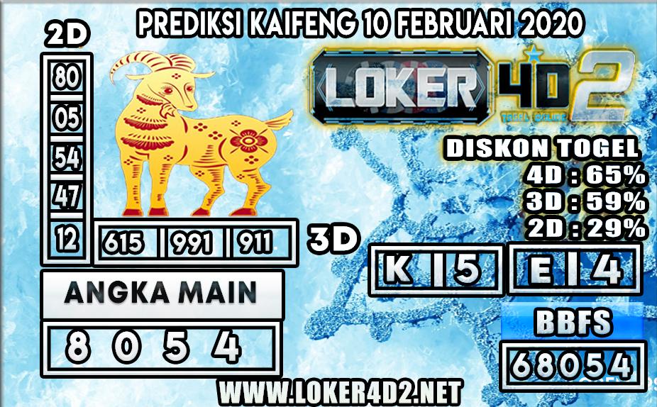 PREDIKSI TOGEL KAIFENG LOKER4D2 10 FEBRUARI 2020