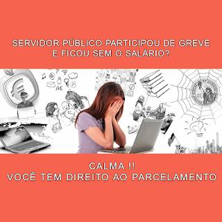 PARCELAMENTO DESCONTOS SALÁRIO GREVISTA