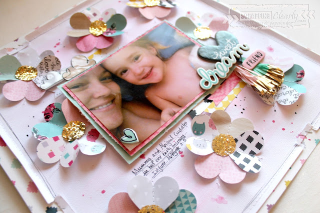 """Sweet Dreams"" layout by Bernii Miller for Scrapping Clearly using the Crate Paper - Cute Girl collection."