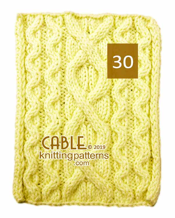 Cable Knitting Pattern 30
