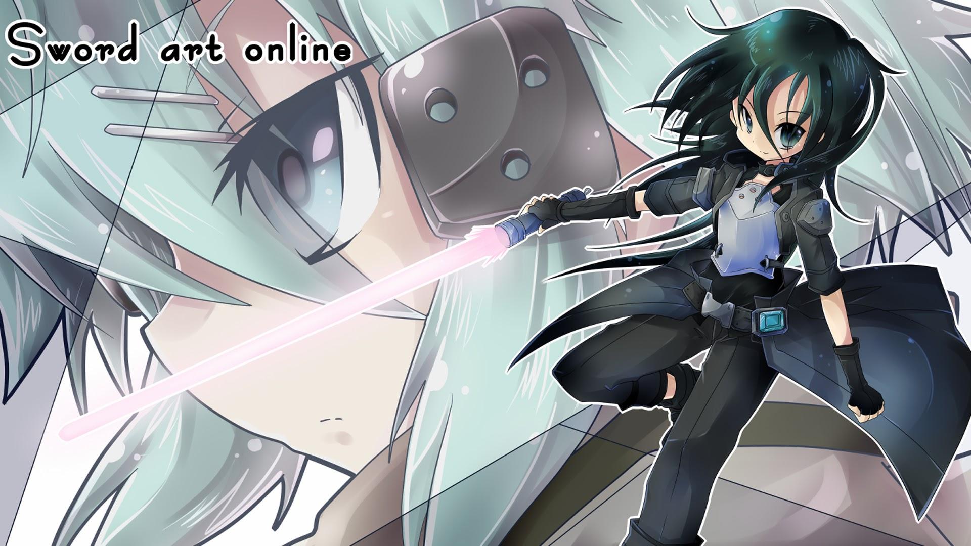 Sinon and Kirito Gun Gale 7v Wallpaper HD