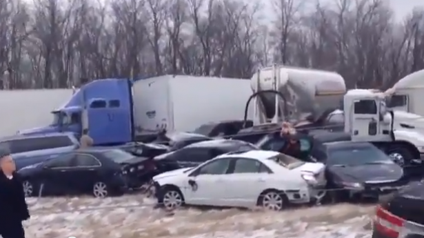 86-car pileup kills young girl and leaves at least 20 injured