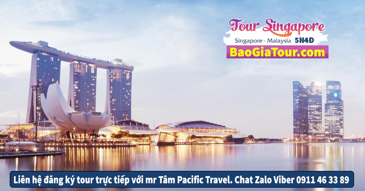 Báo giá tour Singapore Malaysia tháng 7 trọn gói 5 ngày 4 đêm
