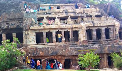 Undavalli Caves in Guntur District