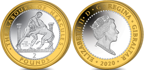 Gibraltar 2 pounds 2020 - The Nemean lion