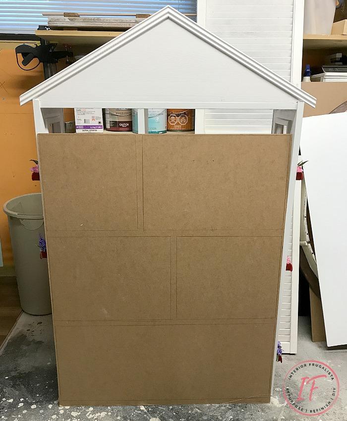 DIY Dollhouse Bookcase Backing Wallpaper Grid