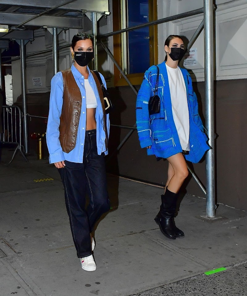 Bella Hadid Night Out at Times Square in New York 8 Apr-2021