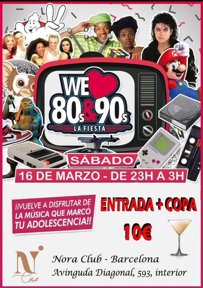 Flyer Fiesta We Love 80s & 90s