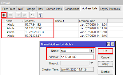 Cara Blokir Situs MikroTik Address List Mangle