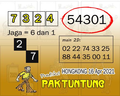 Syair HK Jumat 16 April 2021 -