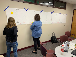Extension educators working on journey mapping project