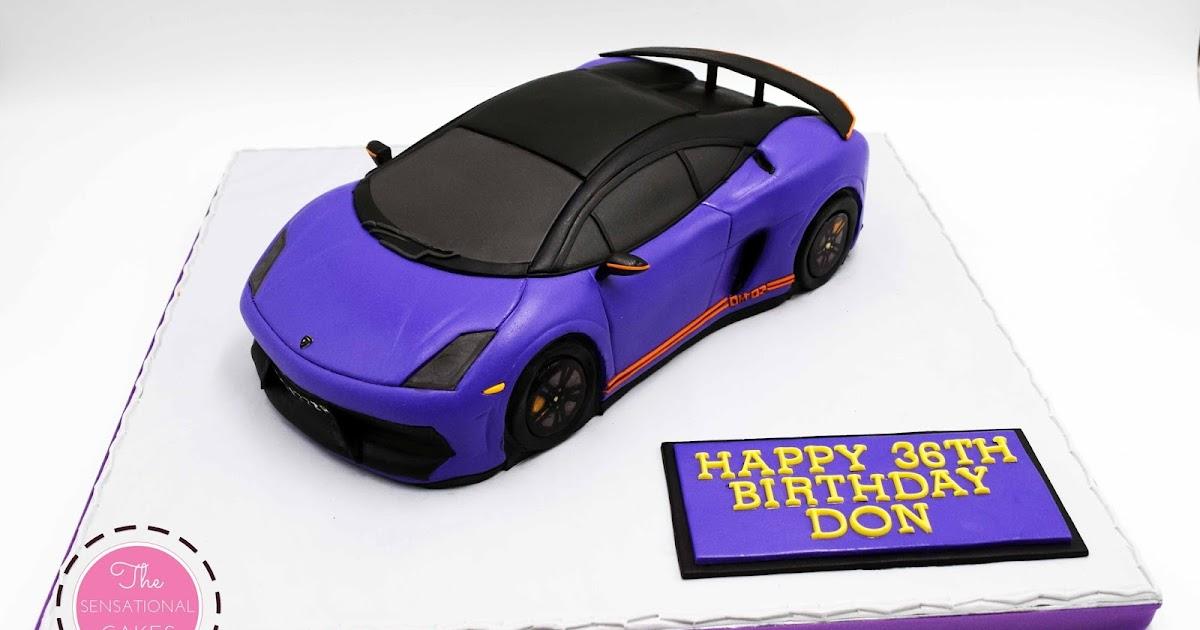 The Sensational Cakes: 3D Violet Lamborghini Cake Singapore, Ferrari Theme  3D Real Life Cake Singapore, Best Sport Car Bespoke Cake Singapore