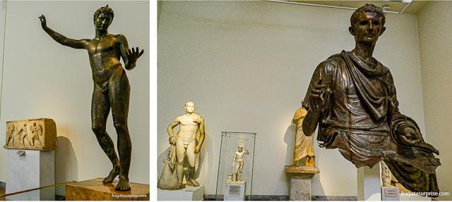 Coleção de estátuas de bronze do Museu Nacional de Arqueologia de Atenas, Grécia