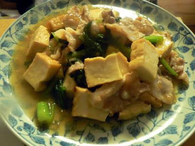 キッコーマン|厚揚げのみぞれに煮+豚バラと小松菜完成