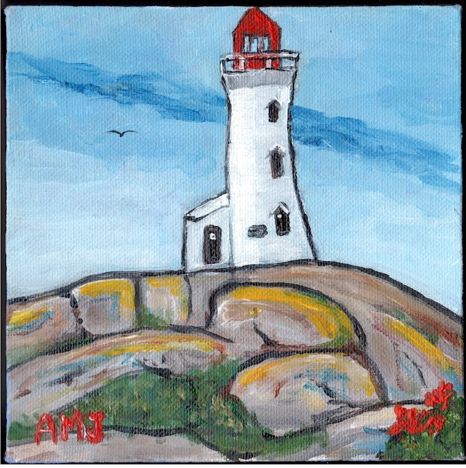 Summer day at Peggy's cove - Original painting