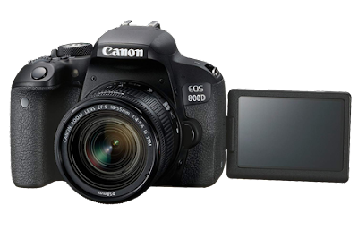Canon EOS 800D 24.2MP Digital SLR Camera + EF-S 18-55 mm is STM Lens + 16GB Memory Card + Carrycase.