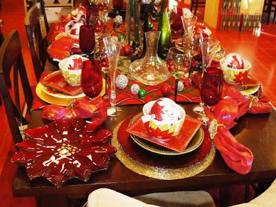 Contoh Gambar Meja Makan Untuk Perayaan Natal