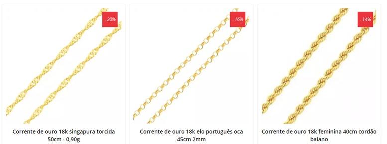 AUBRA JÓIAS - cordão de ouro