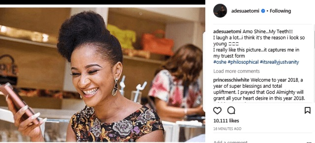 iop 6 - You Marvel How 29-year-old Adesua Etomi Look So Younger?