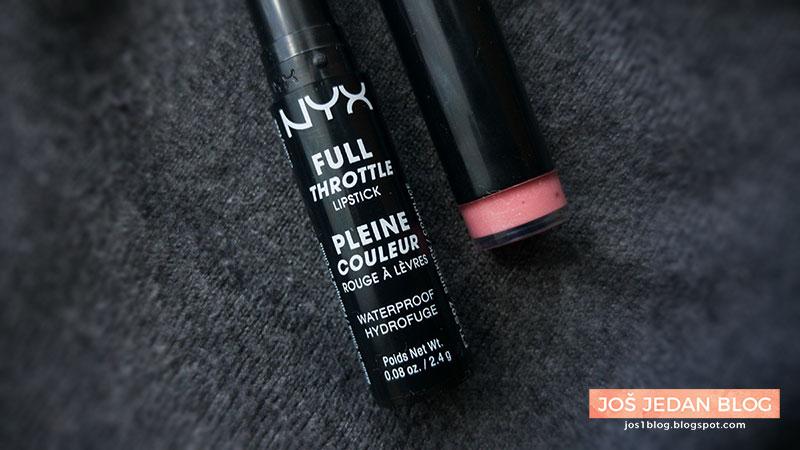 NYX Full Throttle lipstick, NYX ruž za usne, recenzija, utisci, cena, gde kupiti