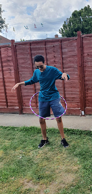 Hula-hooping!