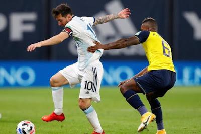 ملخص وهدف فوز الارجنتين على الاكوادور (1-0) تصفيات كاس العالم