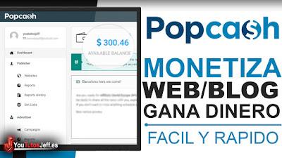 monetizar web con popcash