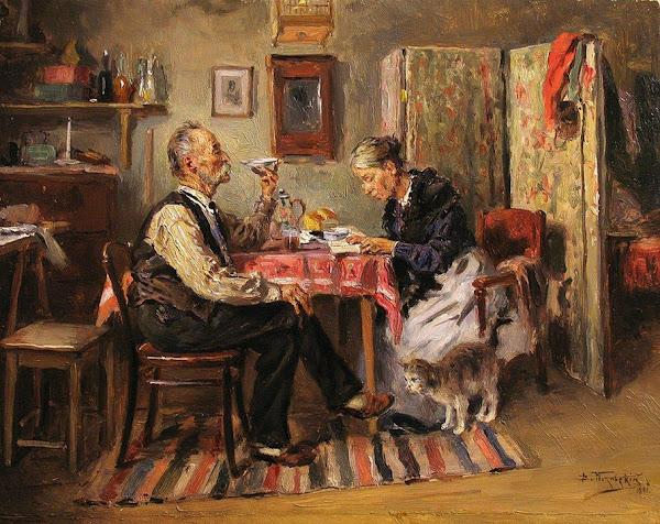 Маковский Владимир Егорович - Утренний чай. 1891