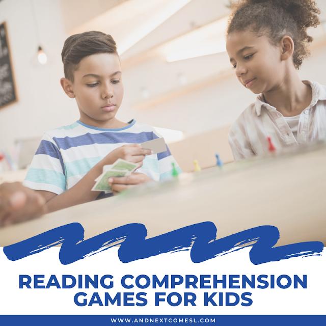 Reading comprehension games for kids