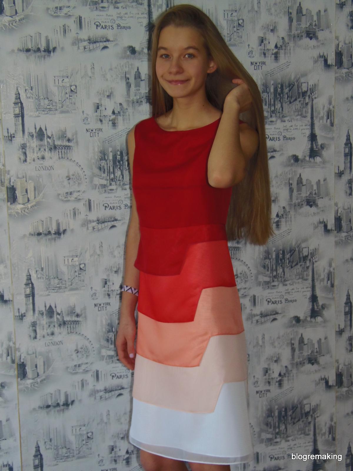 Конструирование базовой выкройки платья от 10 до 14 лет