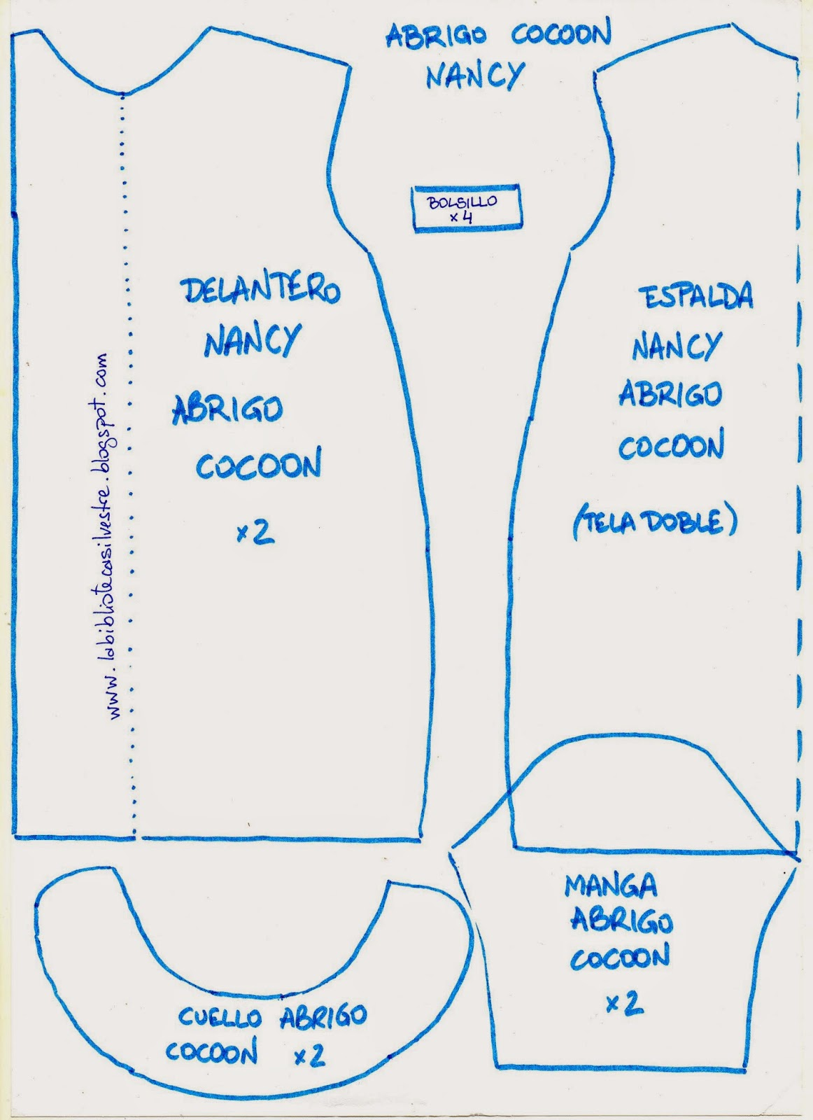 b358b361ae3ac La biblioteca silvestre  Patrón Nancy abrigo