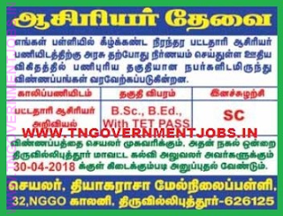 thiyagaraja-hr-sec-school-srivilliputhur-recruitment-2018
