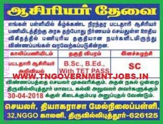 thiyagaraja-hr-sec-school-srivilliputhur-recruitment-2018