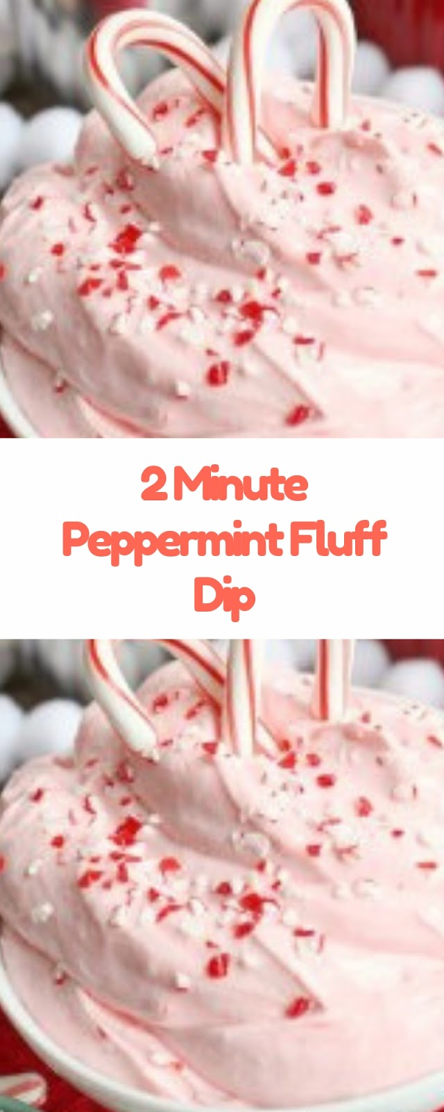 2 Minute Peppermint Fluff Dip