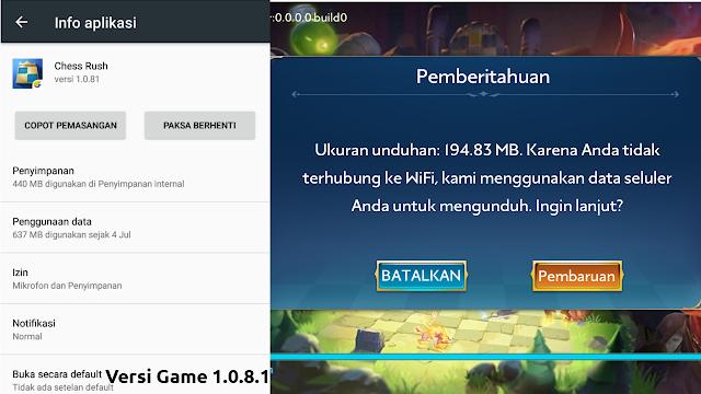 Berapa Total Size Game Android Chess Rush Dari Tencent