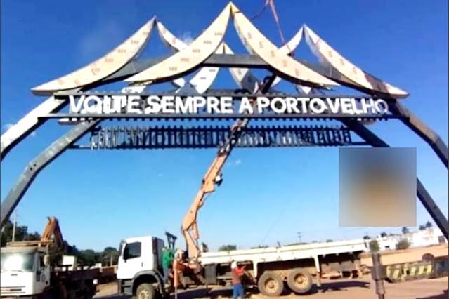 Construção de Pórticos em Porto Velho entra em processo de finalização
