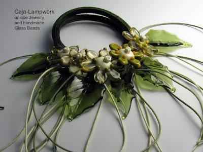 Lampwork Blütenkette