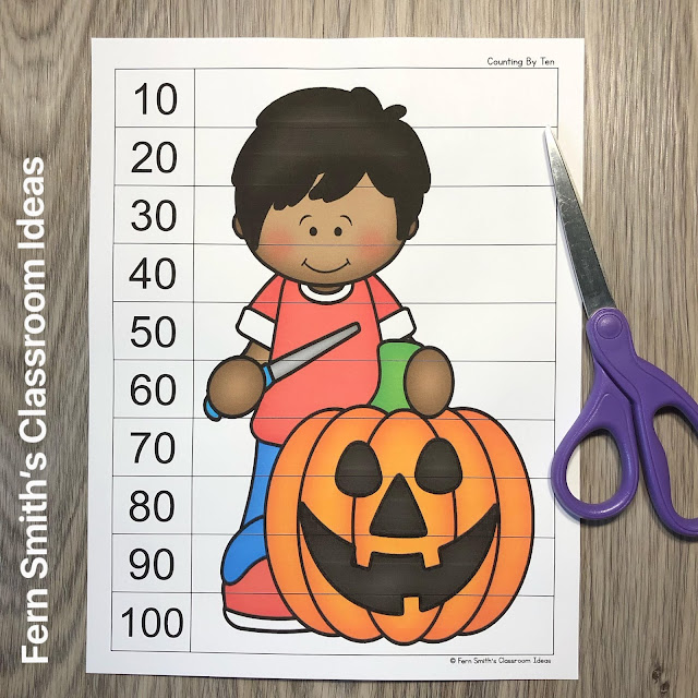 Click Here to Download These Halloween Counting Puzzles For Your Classroom Today!