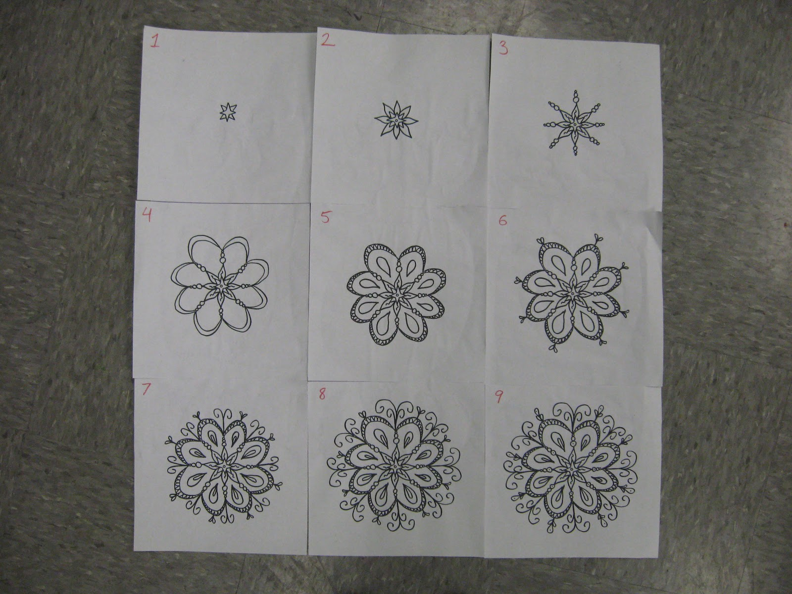 Easy Step By Step Mandala Drawings 5 Easy Zentangle Patterns For
