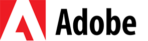 Logo oficial de Adobe marca registrada con extension png