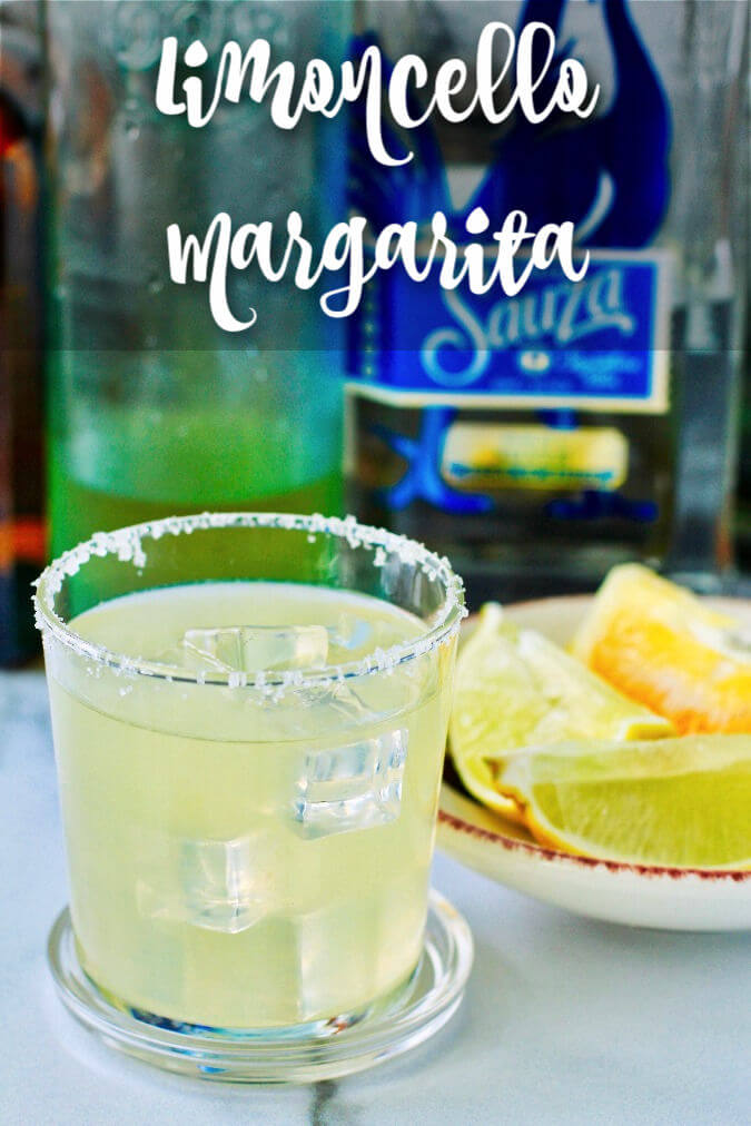 Limoncello Margarita with salted rim
