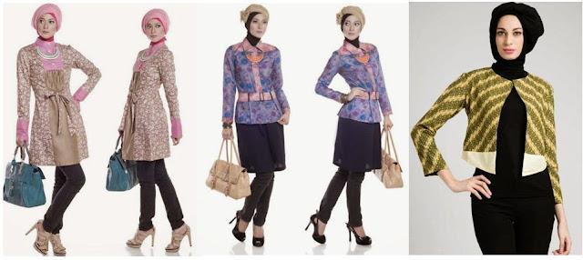 Model Baju Batik Muslim Kerja