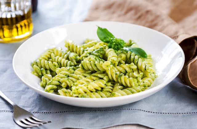Fusilli Pasta With Pesto Sauce