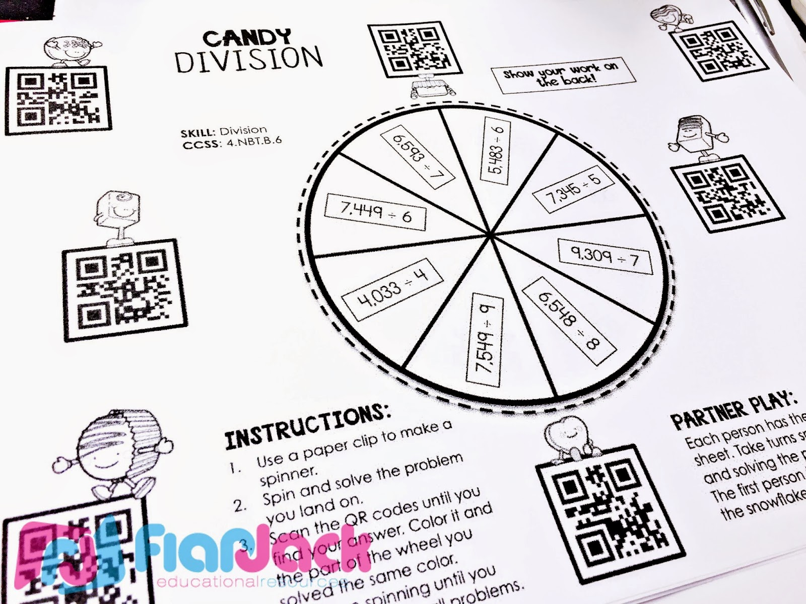 Flapjack Educational Resources Fraction Hearts Qr Code