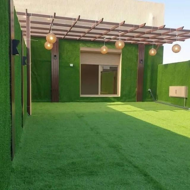 تنسيق حدائق عشب صناعي بالباحة
