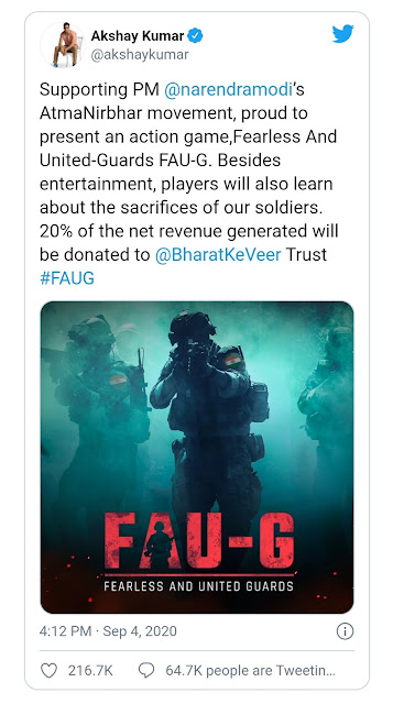 When will faug game will release