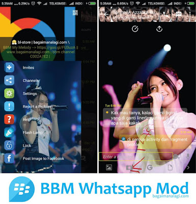 Download BBM Whatsapp Mod tema Melody JKT48